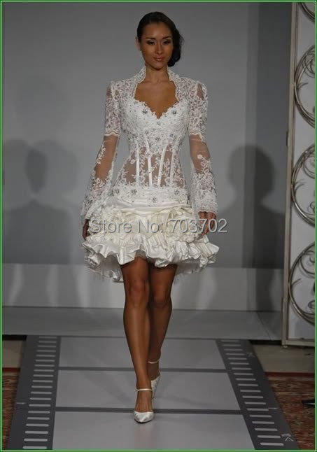 Corset Short Wedding Dress,