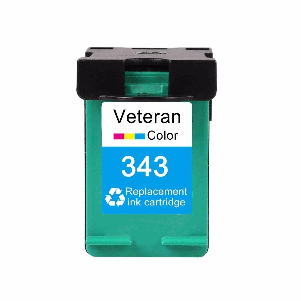 Ветеран сменный картридж для принтера для hp 337 черный C9364E & 343 Цвет C8766E Photosmart 8049 8050 8050xi C4100 C4140 C4150