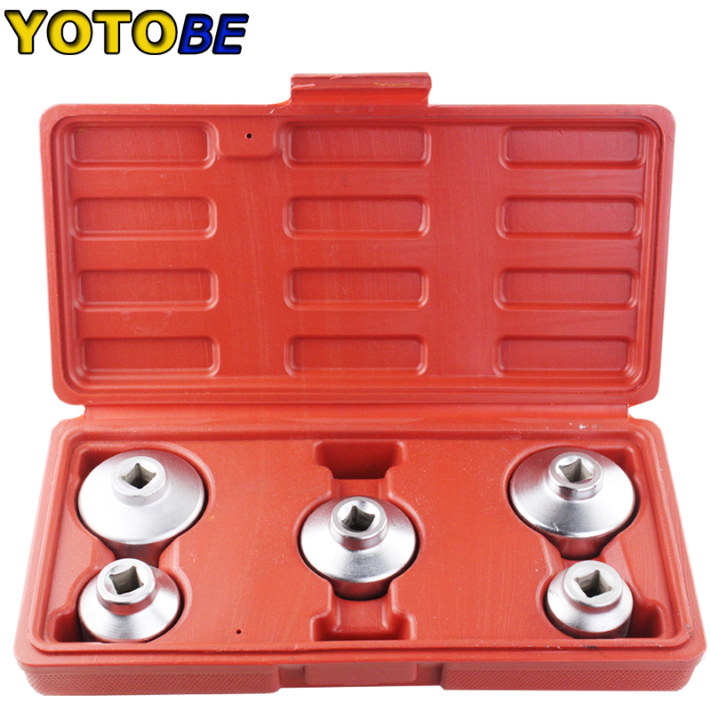 Active 5pcs Car Oil Filter Cap Wrench Socket Set For Mercedes Benz Bmw Ford 24mm 27mm 32mm 36mm 38mm A Complete Range Of Specifications Car Wash & Maintenance Engine Care