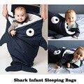 New In Stroller Fleabag Ins Autumn Winter Thick Newborn Shark Envelope Blanket Baby Paded Sleeping Bags Sleepsacks
