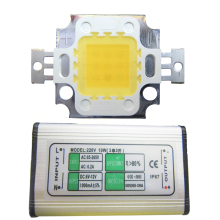 High Lumen 10W 45mil White Full Spectrum 380~780nm LED Bead Light Diodes + AC Waterproof LED Driver For Plant Grow Light
