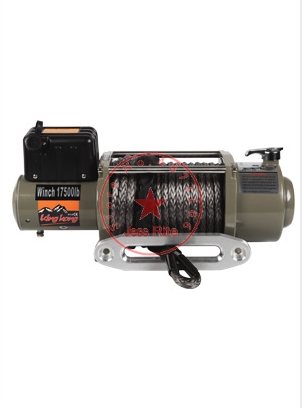 12v/24v 17500Ibs 26M Car/Off-road Waterproof Electric Winch Wire Rope/nylon Rope Optional Suitable For Vehicle Modified Traction