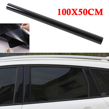 Glass Tint Film Window VLT 20% Heat Protector Sticker Roll Sunshade Black image