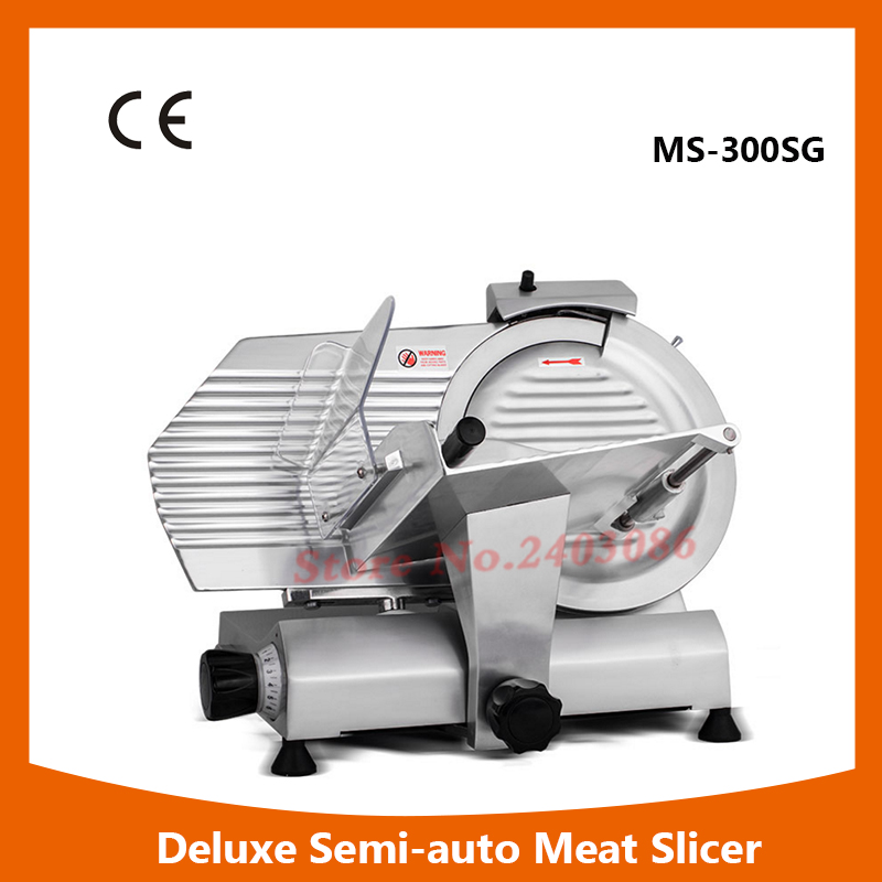 MS-300ST 12 Deluxe Anodized aluminium alloy electric frozen meat slicer food cutting machine for sales