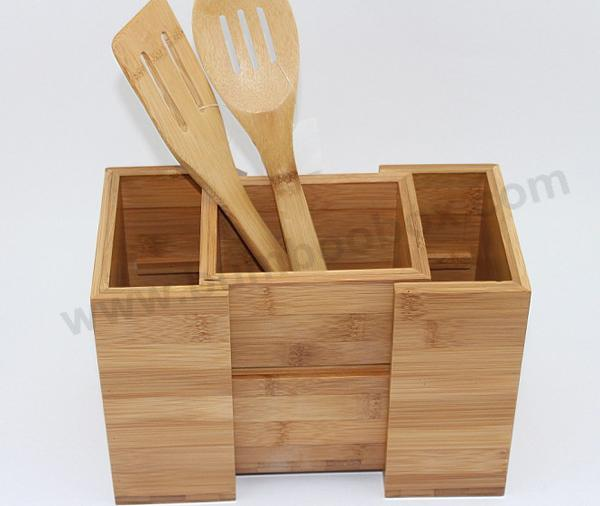 Merveilleux Bamboo Kitchen Utensils Holder