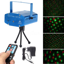 цена на Mini LED Laser Projector Christmas Decorations Disco Light stage lighting effect Dj Voice-activated Xmas Party Club wedding