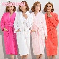 Bath Robe Winter Women S Plus Size Flannel Robes Bathroom Robe Men Bathrobe Pajama Thick Long