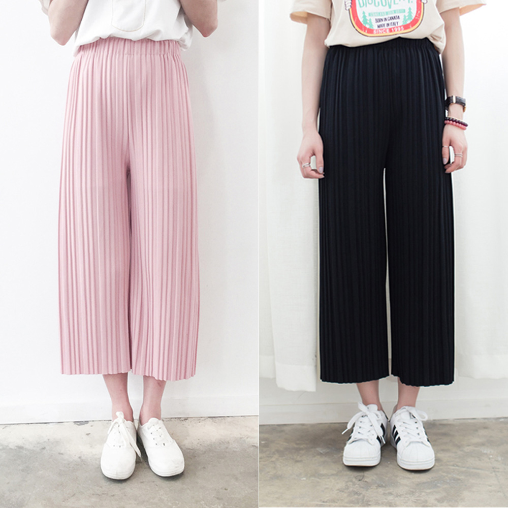 harajuku trousers women 2016 korean summer pants new pleated wide ...