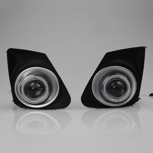 Image 2 - Ownsun COB Angel Eye Rings Projector Lens with 3000K Halogen Lamp Source Black Fog Lights Bumper Cover For Toyota Corolla 11 13