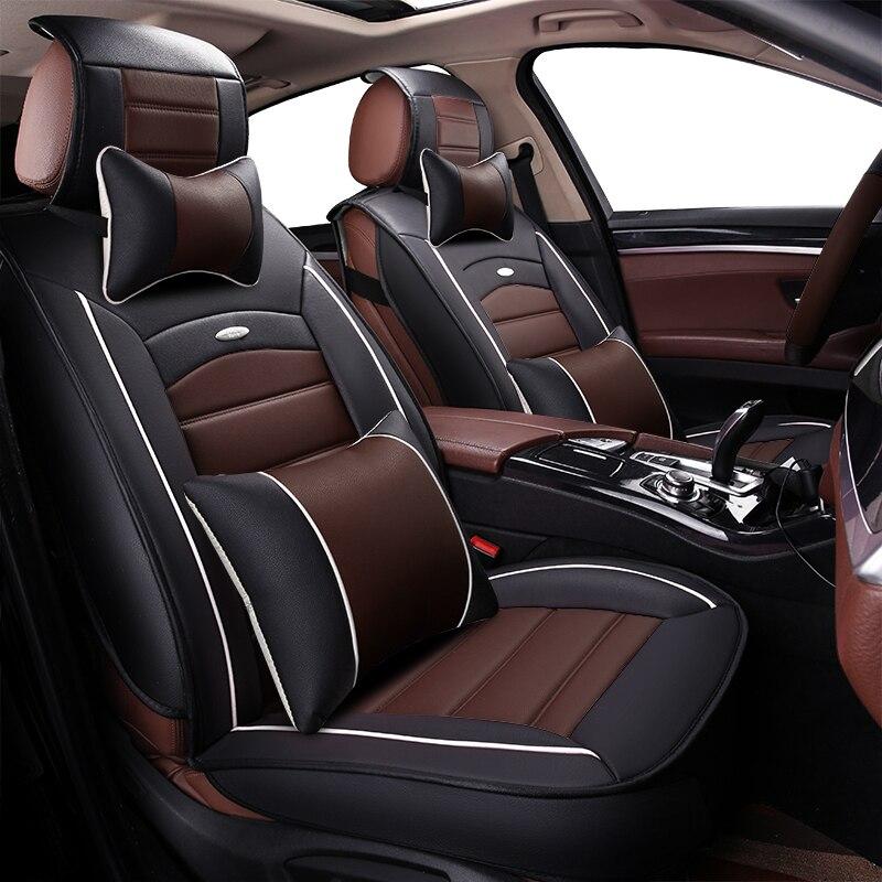 Housse de siège auto en cuir synthétique polyuréthane housses de sièges auto pour ford S-MAX smax mk2 taurus focus st fusion explorer f150 fiesta st capri