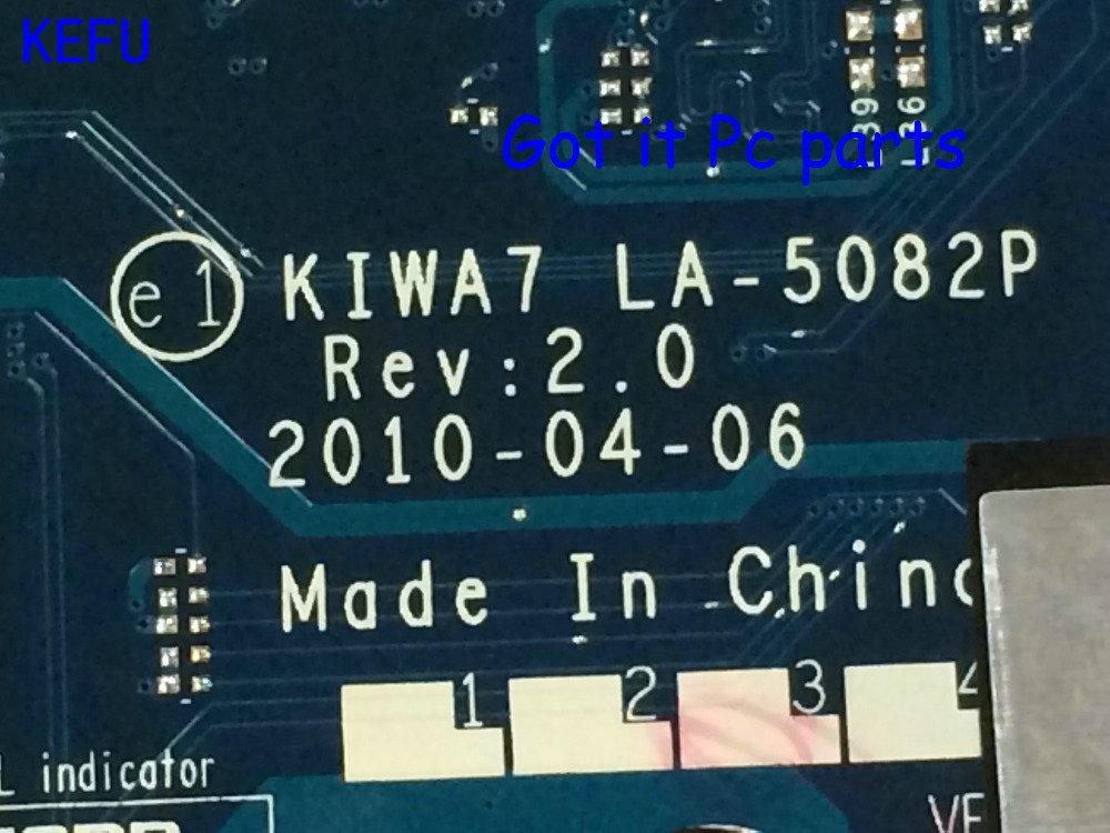 KEFU HOT IN RUSSIA UKRAINE 100% NEW Free Shipping Laptop motherboard KIWA7 LA-5082P REV : 2.0   for Lenovo  G550 Notebook pc kefu new hot in russia 574508 001 free shipping laptop motherboard for hp probook 4411s 4510s 4710s ddr2