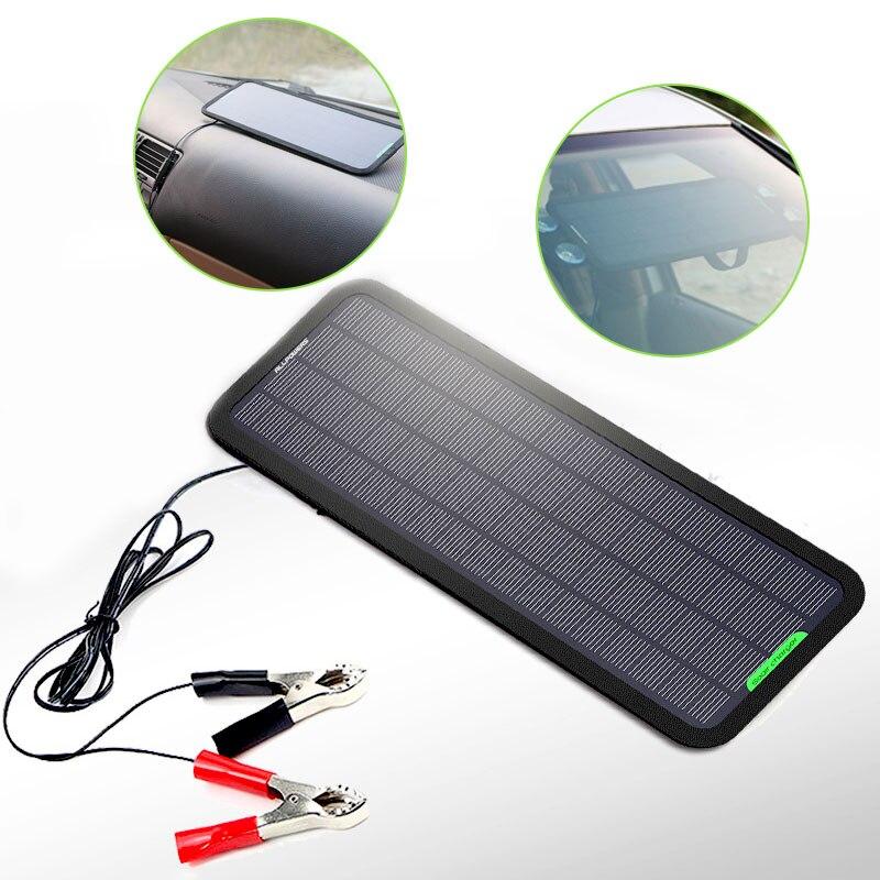 Mr Cartool Portable solaire voiture batterie Auto réparation chargeur 5 W étanche panneaux solaires