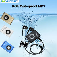 Protable 8GB M88 IPX8 Waterproof   MP3     Player   Support FM Swimming Diving Surfing Sports Music   Player   with Earphone Clip Walkman