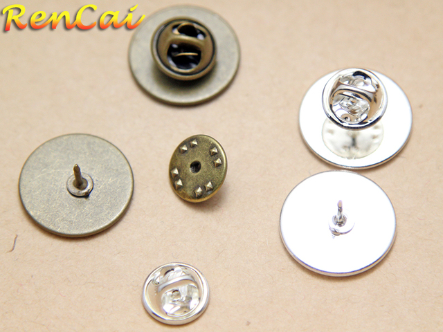 Favorite 50pcs/lots 20mm Round Pads Butterfly Tie tack blanks Blank Tie  LZ58