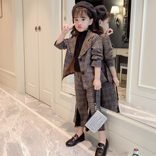 2pcs Kid Suits Blazers Jackets for Girl Teenager Outerwear J