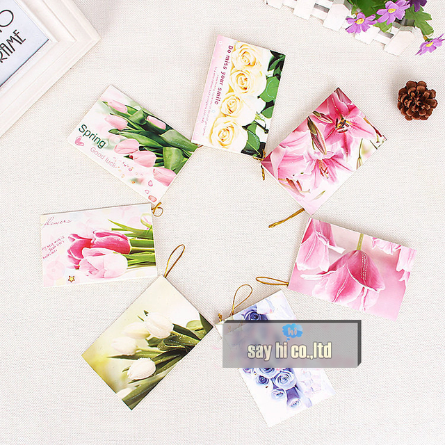 Business cards flower greeting card birthday festival best wishes business cards flower greeting card birthday festival best wishes shop gift 120pcs hang tag party gift m4hsunfo