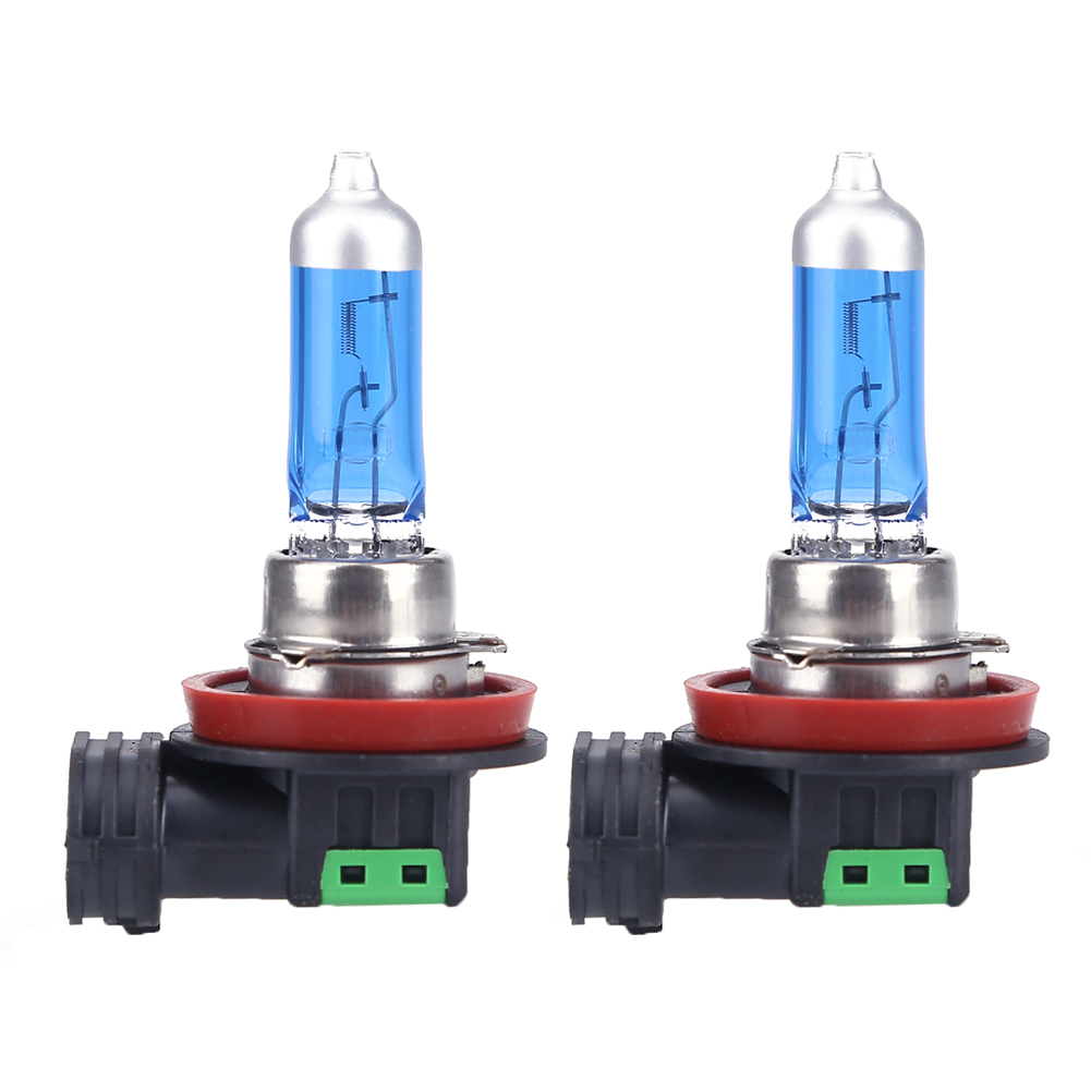 2x H11 12V 55W 6000K Car Fog Light Bulb Lamp Super White Halogen Xenon Car Styling Headlight for ford focus 2pcs auto right left fog light lamp car styling h11 halogen light 12v 55w bulb assembly for ford fusion estate ju  2002 2008