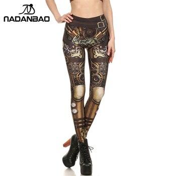 NADANBAO Brand New BARBARIAN Skull Women Leggings Printed Leggins  Woman Pants 3