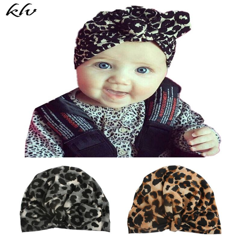 New Fashion Baby Hat Kids Rabbit Ears Leopard Cap Children Headgear Photography Props Headdress Cap For A Boy