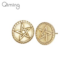Big Star Earring Women Female Boho Vintage Silver Ethnic Jewelry Arabic Turkey Gold Vikings Stud Earrings Gift(China)