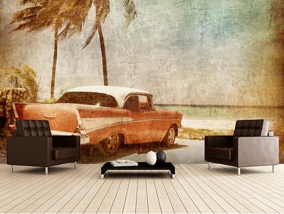 Custom Art Wallpaper,Sea Breeze,3D Retro Wallpaper For The Living Room Bedroom Kitchen Background Wall Waterproof Wallpaper
