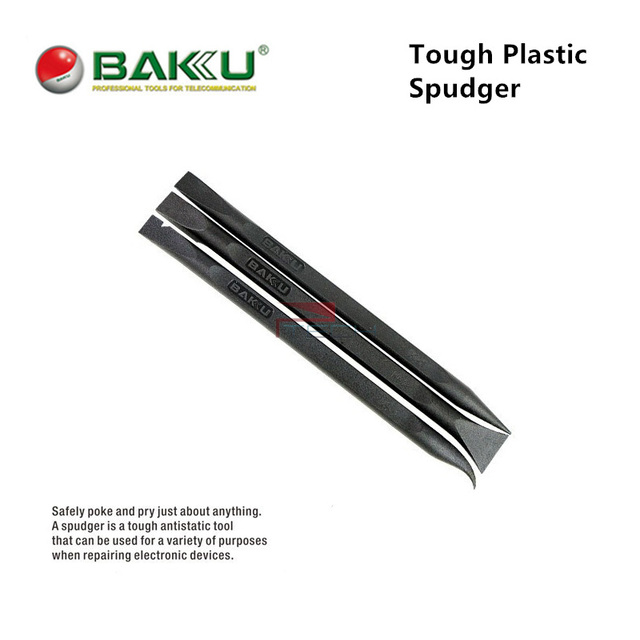 Baku Multi Function Black Stick Spudger Tool Anti Static Hard Plastic Pry Opening Tools For Smart Phone Tablet Screen Repair