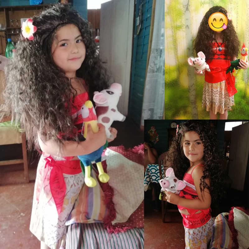 2019 תינוקת נסיכת Moana קרנבל קוספליי תחפושות לילדים Vaiana שמלת ליל כל הקדושים תלבושות עבור ילד קטן בנות שמלות