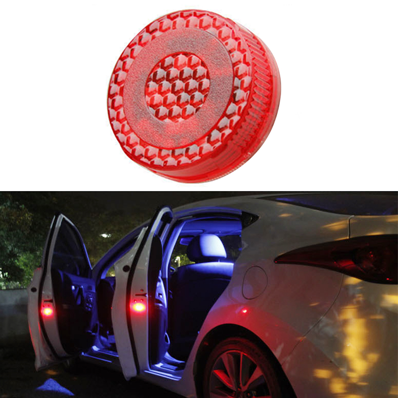 2pcs Magnetic Wireless 5 LED Car Door Opening Warning Lights Waterproof Strobe Flashing Anti Rear-end Collision Led Safety Lamps