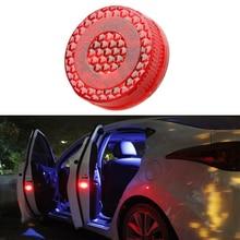 2 шт. магнитный беспроводной 5 светодиодный предупреждающий свет для открывания двери автомобиля Водонепроницаемый стробоскоп мигающий светодиодный фонарь для предотвращения столкновения сзади
