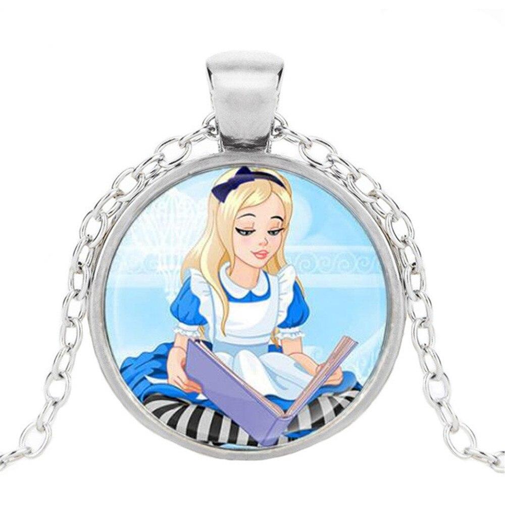 Новая мода популярное женское ожерелье Кристалл ювелирные изделия выпуклая круглая Принцесса Подвеска Ожерелье Девушка - Окраска металла: 5