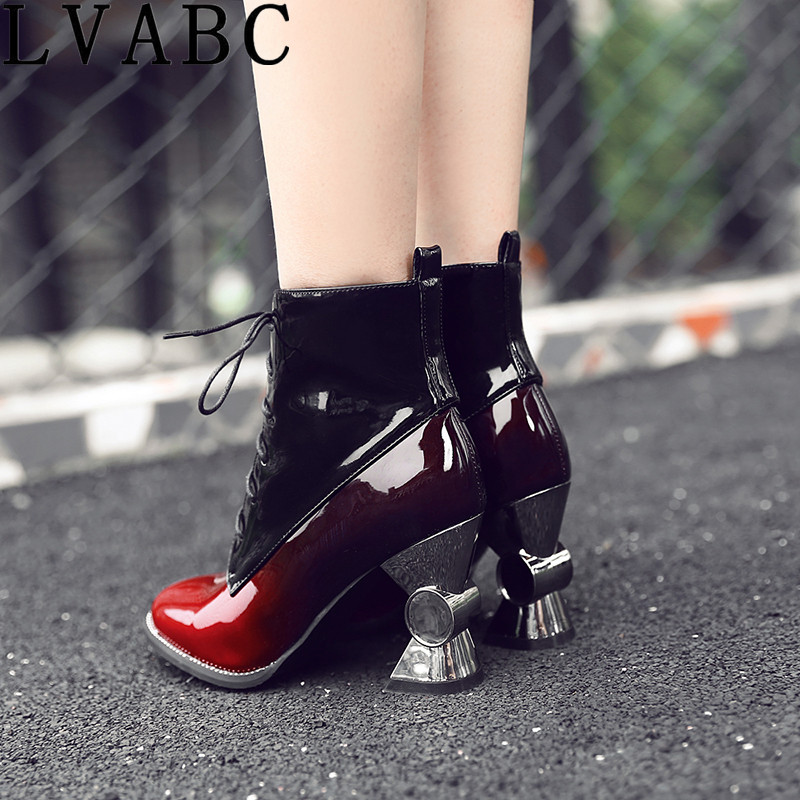 LVABC 2017 winter women s shoes thick with high heeled tube in the women s boots