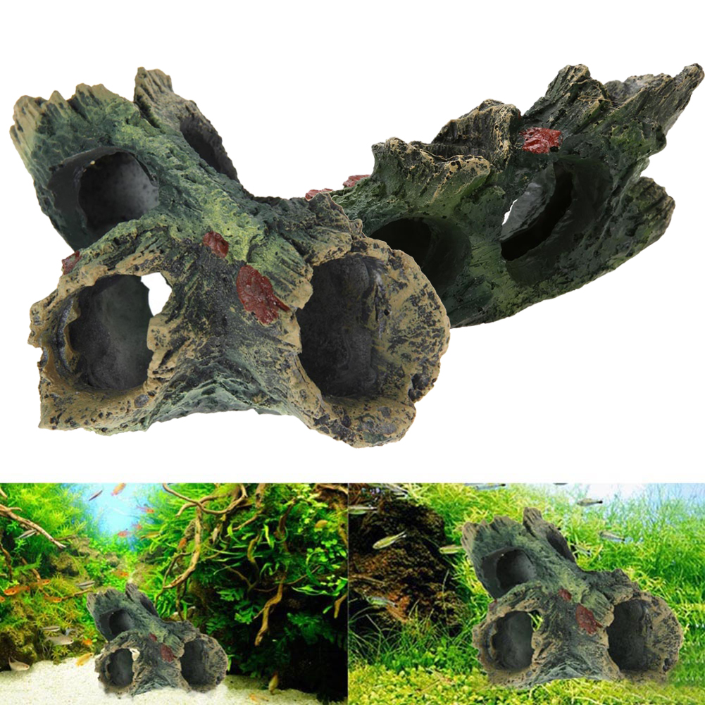 B c style resin aquarium tree decoration artificial for Fish tank decoration