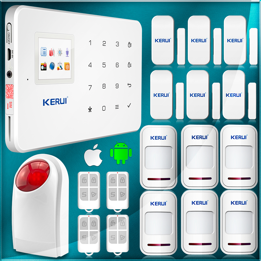 KERUI APP Control Alarm System Home in font b Security b font And Protection New White