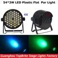 2017 Free Shipping 4Pcs/Lot 54X3W RGBW Led Par Lights 120W High Power LED Par Cans Strobe Effect DMX512 DJ Disco Equipment