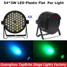 2017 Free Shipping 4Pcs/Lot 54X3W RGBW Led Par Lights 120W High Power LED Par Cans Strobe Effect DMX512 DJ Disco Equipment