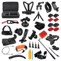 For GoPro Accessories Set for Go Pro Hero 7 6 5 4 3 kit Selfie Stick Monopod Mount Adapter for Yi 4K Sjcam Sj4000 Eken H9r