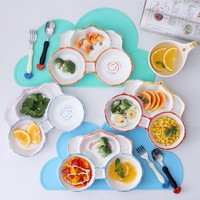 2017 The latest cartoon pumpkin car 3Styles 3 Pcs / Set Ceramic Children tableware set children feeding tableware