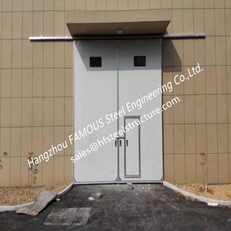 Large Openings Vertical Sliding Doors For Industrial Use Motorised Heavy Sliding Doors With Steel Track