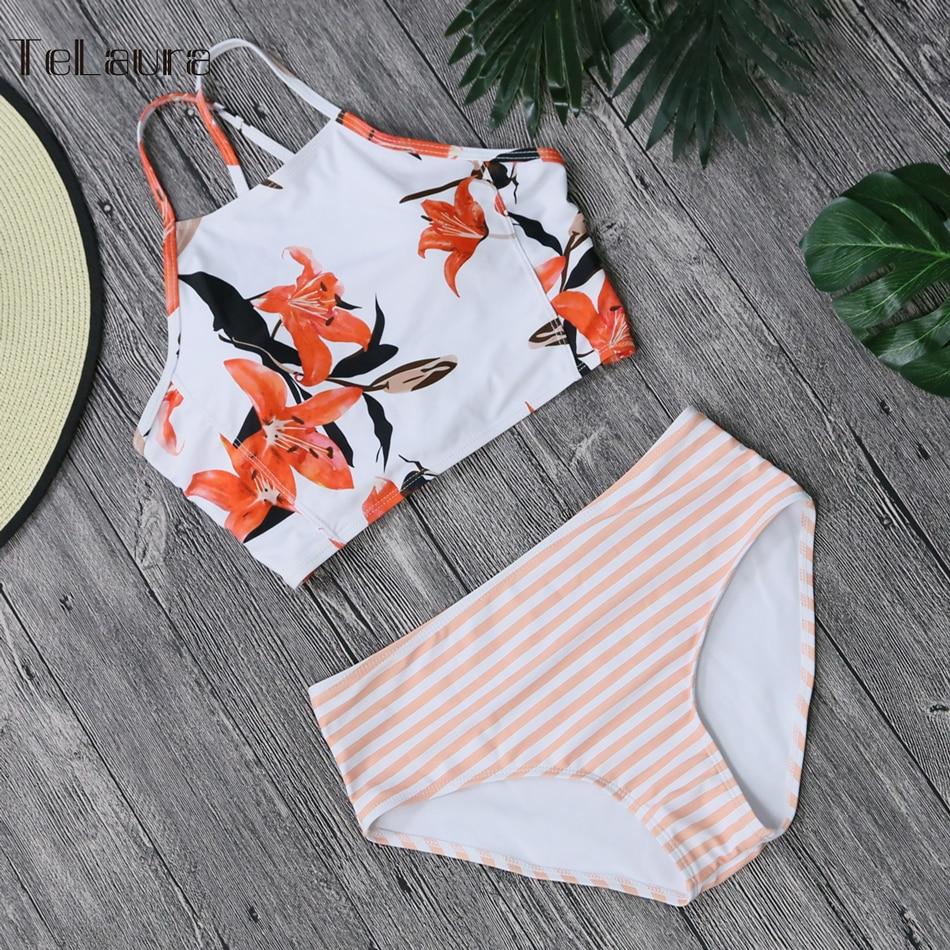 2018 Sexy High Neck Bikini Women Swimwear Push Up Swimsuit Biquini Beach Wear Switchback Brazilian Bikinis Women Bathing Suit 5