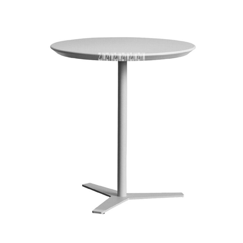 CRZ individuel noir et blanc Table à thé moderne Simple Table d'appoint ménage canapé balcon extérieur petite Table basse ronde
