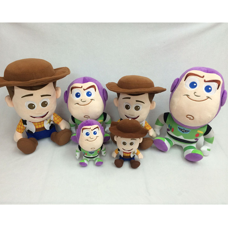 """Christmas Gift Toy Story Stuffed Toys Supply 7"""" 12"""" 16"""" Buzz Lightyear Model Plush Woody Doll Decorations for Children Girls"""