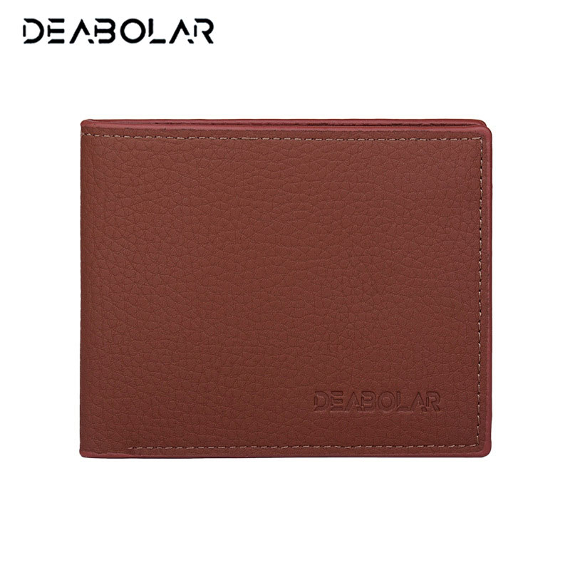 Cheap Vintage Thin Men Wallet Fashion Brand Male Wallets Purses with Card Holder for Men Free Shipping men s short leather wallets male famous brand business purses with card holder wallet for men
