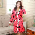 New Coral cashmere Bathrobes women Flannel Robe pajamas Cartoon series Live wave cute Thickening Sling skirt