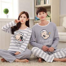 Women Pyjamas Sets Spring Style Lady Sleepwear Long Sleeved Couple Pajama Fashion HomeClothing For Men Autumn Nightgrown Female