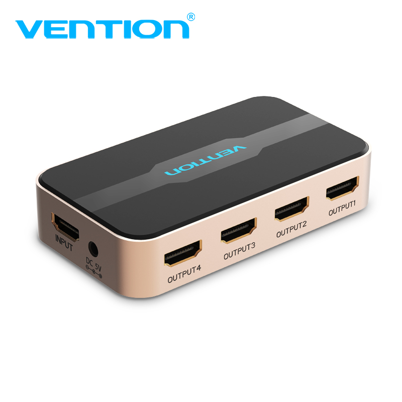 Vention HDMI 1x4 Splitter 1 In 4 Out For TVbox PS3/4 Laptop HDMI Switch Adapter With Power Supply HD Switcher 4kX2k 3D Splitter-in HDMI Cables from Consumer Electronics on AliExpress - 11.11_Double 11_Singles' Day 1