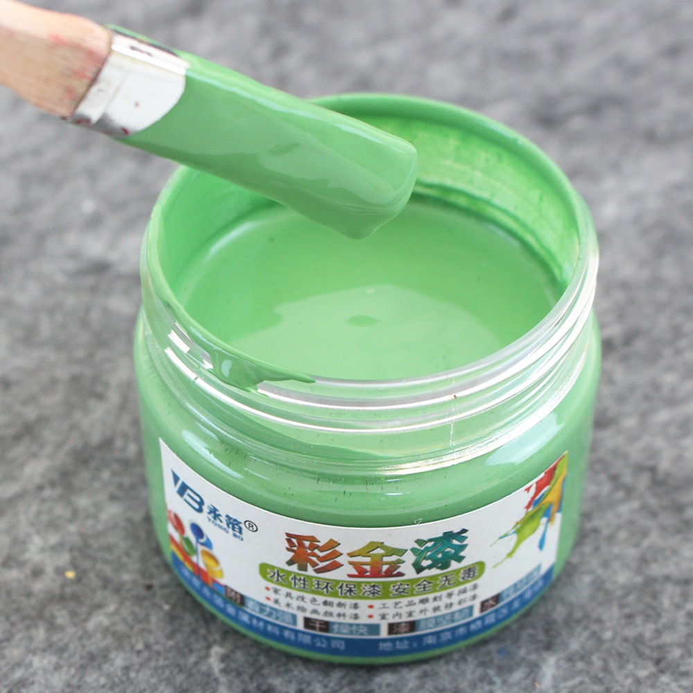 100g Light Green Water-based Paint Varnish, Furniture, Iron Doors, Wooden Doors, Handicrafts, Wall, Painting