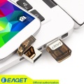 Eaget v9 originais 16 gb usb flash drives de memória otg externo Micro USB Pen Drive de Disco de armazenamento Telefone Inteligente Tablet PC atacado