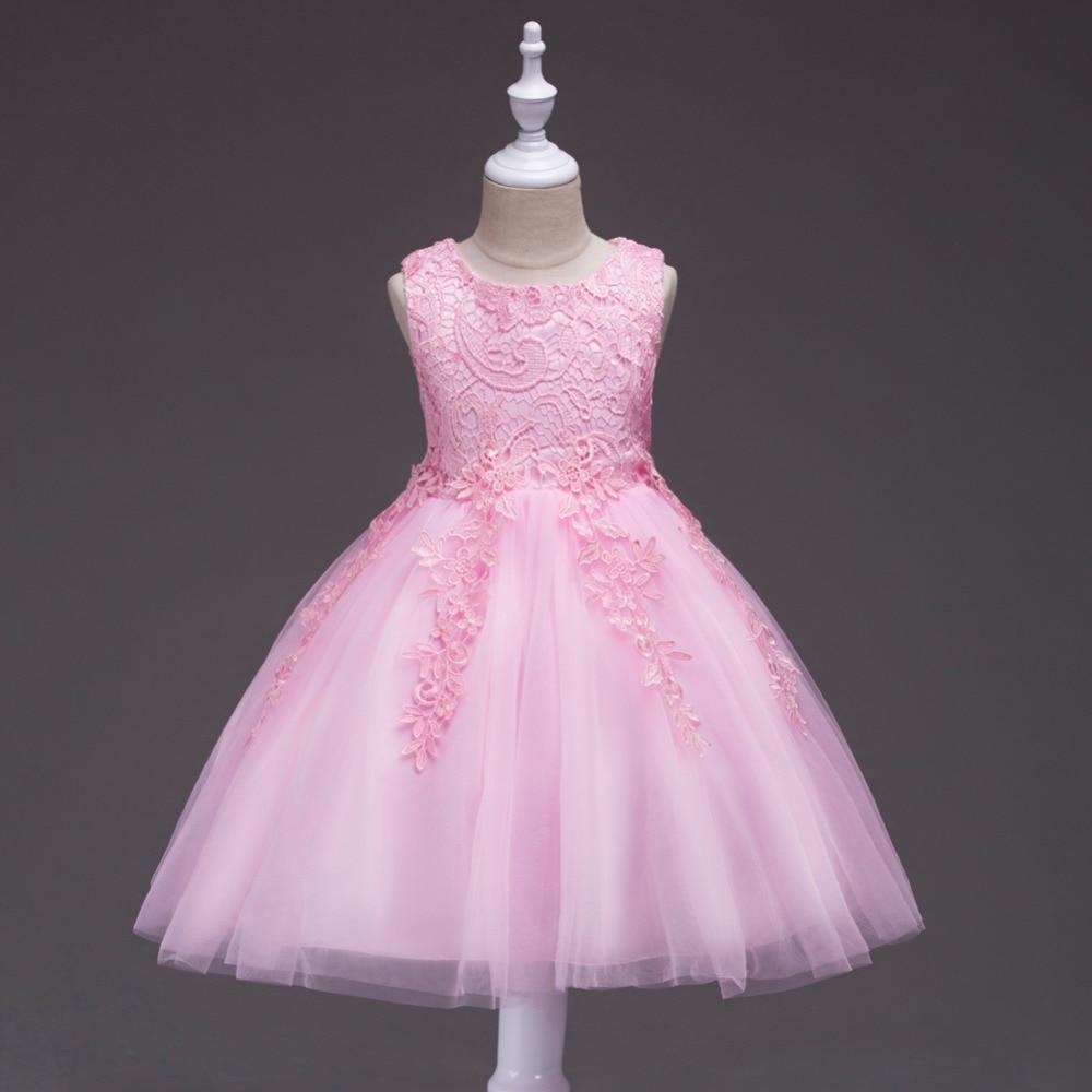 CAILENI encaje princesa vestido para Partido de la muchacha ropa de ...
