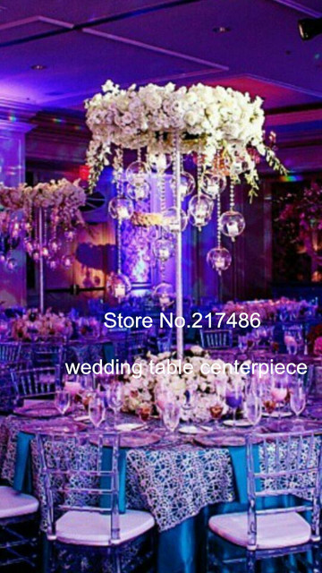 Mental Stand Only Wedding Tale Chandelier Centerpiece Crystal Table Centerpieces