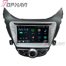 "Topnavi 8 ""1024*600 4 ядра 16 г Android 6.0 DVD мультимедиа плеер для Hyundai Elantra 2012 Авторадио GPS навигации аудио"